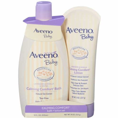 Aveeno  Baby Calming Comfort Bath + Lotion Set - Lavender & Vanilla Perspective: front
