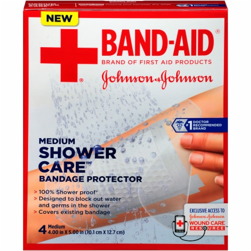 Band-Aid First Aid Shower Care Bandage Protectors Perspective: front