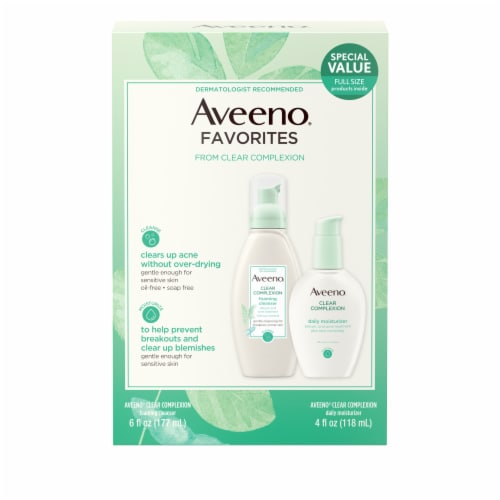 Aveeno Clear Complexion Favorites Cleanser and Moisturizer Set Perspective: front