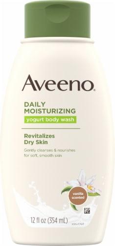Aveeno Daily Moisturizing Vanilla And Oat Yogurt Body Wash Perspective: front