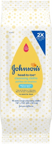 Johnson's Baby Cleansing Cloths Perspective: front