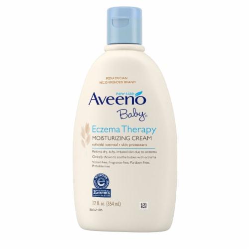 Aveeno Baby Eczema Therapy Moisturizing Cream Perspective: front