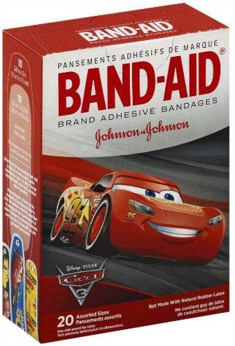 Band-Aid Cars Adhesive Bandages Perspective: front