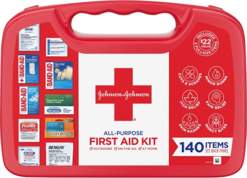 Johnson & Johnson First Aid Kit Perspective: front