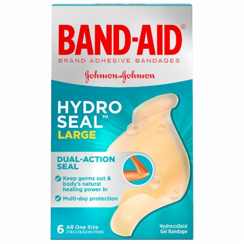Band-Aid Large Hydro Seal One Size Bandages Perspective: front