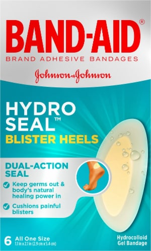 Band-Aid Hydro Seal Blister Heel Bandages Perspective: front