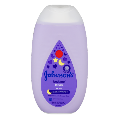 Johnson's Bedtime Baby Lotion Perspective: front