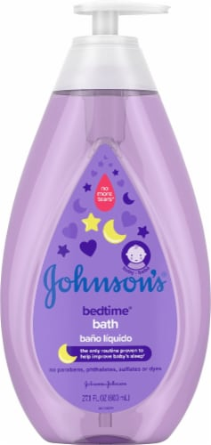 Johnson's Baby Bedtime Bath Wash Perspective: front