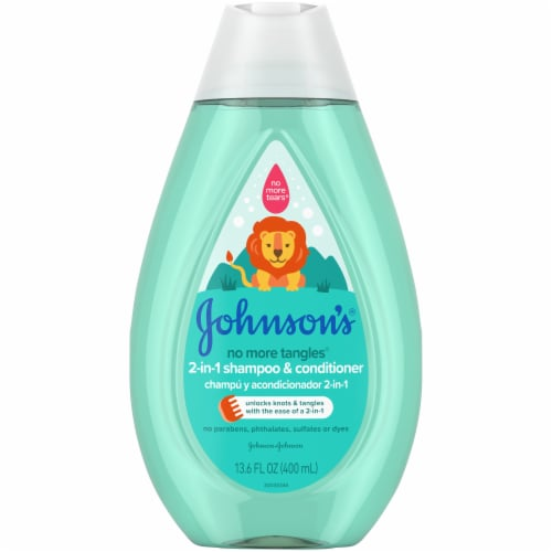 Johnson's® No More Tangles 2-in-1 Shampoo & Conditioner Perspective: front