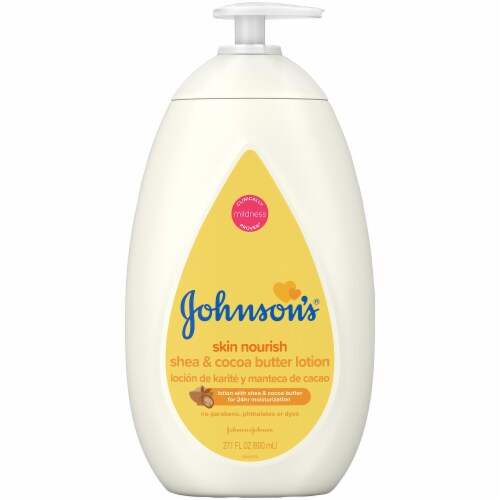 Johnson's Dry Shea & Cocoa Butter Skin Lotion Perspective: front
