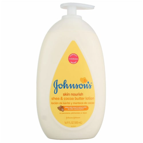 Johnson's Skin Nourish Shea & Cocoa Butter Lotion Perspective: front