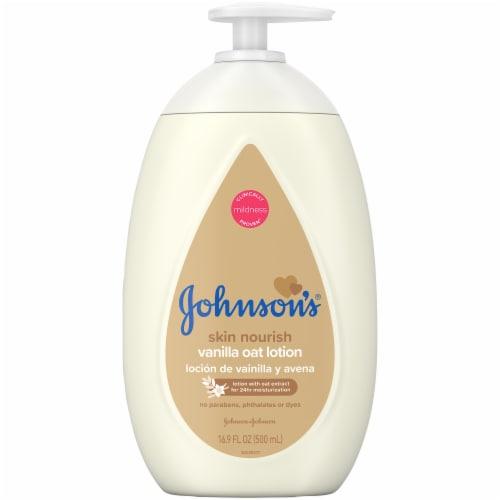 Johnson's Baby Skin Nourish Vanilla Oat Lotion Perspective: front