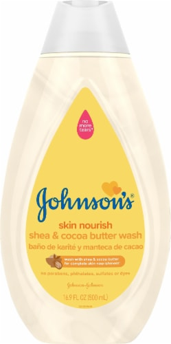 Johnson's Skin Nourish Shea & Cocoa Butter Baby Wash Perspective: front