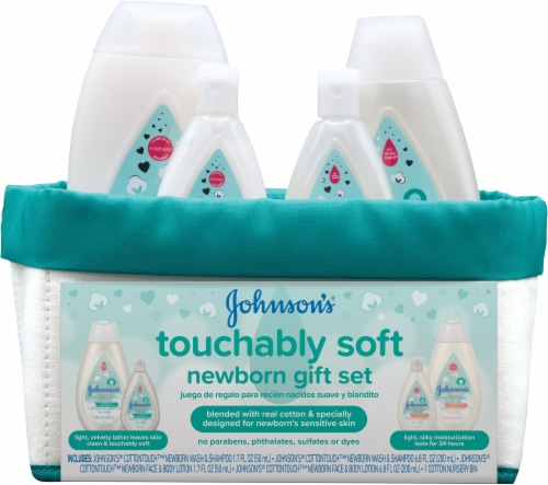 Johnson's Touchably Soft Newborn Gift Set Perspective: front