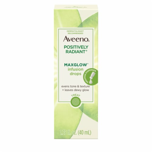 Aveeno Positively Radiant Maxglow Infusion Drops Perspective: front