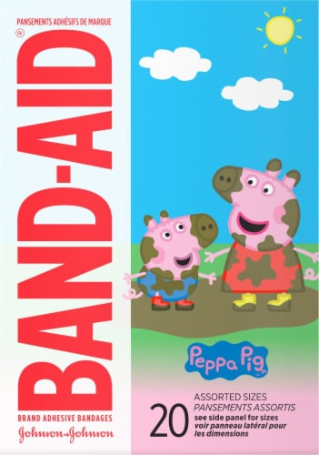 Band-Aid Peppa Pig Adhesive Bandages Perspective: front