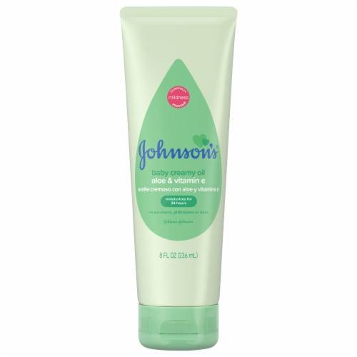 Johnson's Aloe & Vitamin E Creamy Baby Oil Perspective: front