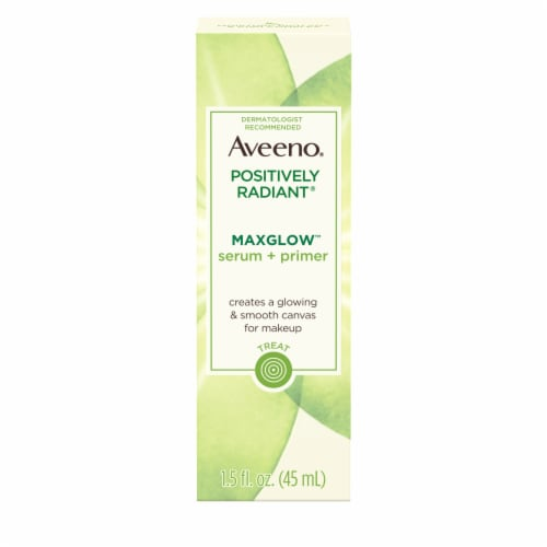 Aveeno Positively Radiant MaxGlow Serum + Primer Perspective: front