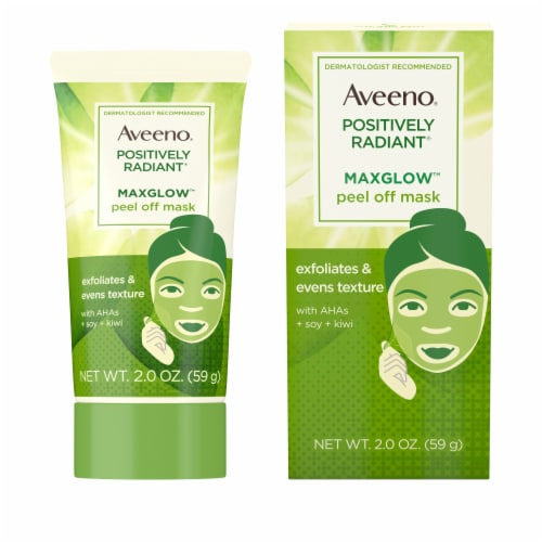 Aveeno Positively Radiant Maxglow Peel Off Face Mask Perspective: front