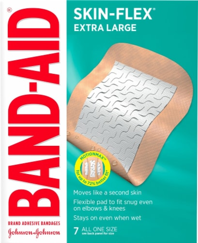 Band-Aid Skin-Flex Extra Large Bandage Perspective: front