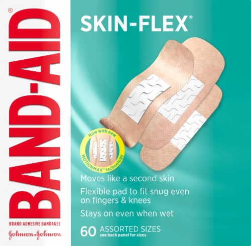 Band-Aid Skin Flex Assorted Sizes Adhesive Bandages Perspective: front