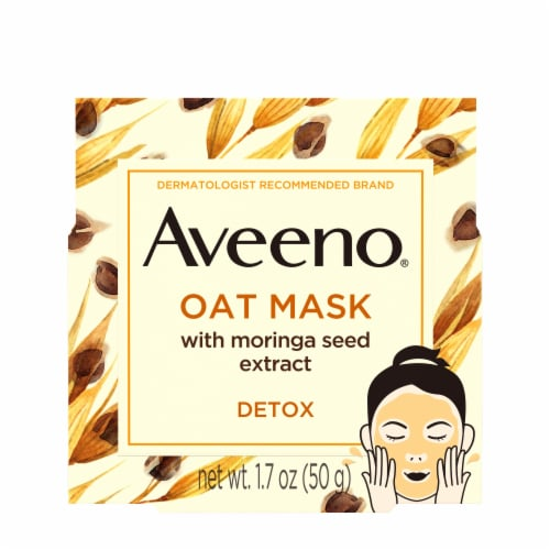 Aveeno Oat with Moringa Seed Extract Face Mask Perspective: front