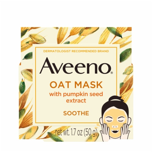 Aveeno Soothe Oat Mask with Pumpkin Seed Extract Perspective: front