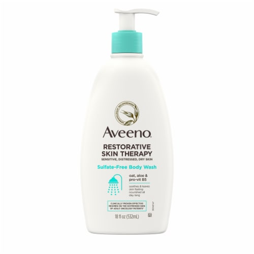 Aveeno Restore Skin Therapy Sulfate-Free Body Wash Perspective: front