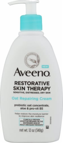 Aveeno Restorative Skin Therapy Oat Repairing Cream Perspective: front