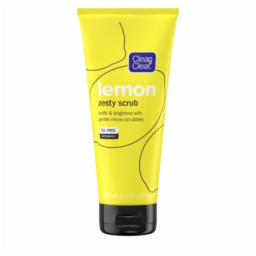 Clean & Clear Lemon Zesty Scrub Perspective: front