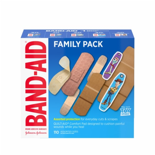 Band-Aid Toy Story Assorted Sizes Adhesive Bandages Family Pack Perspective: front