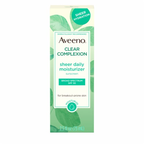 Aveeno Clear Complexion SPF 30 Sheer Daily Moisturizer Perspective: front