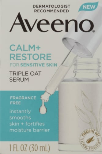 Aveeno Calm + Restore Triple Oat Serum Perspective: front