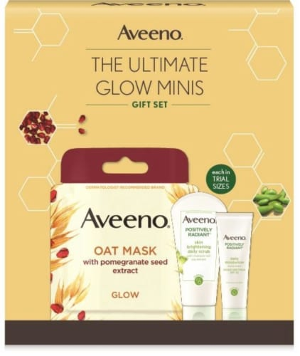 Aveeno The Ultimate Glow Minis Gift Set Perspective: front