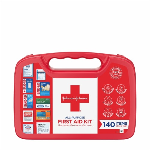 Johnson & Johnson® All-Purpose First Aid Kit Perspective: front
