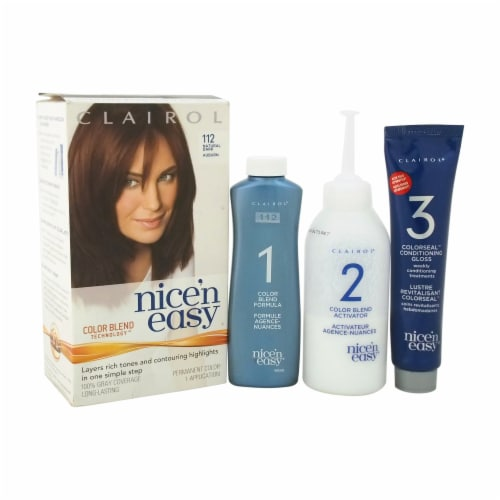Clairol Nice 'n Easy Natural Dark Auburn Hair Color Perspective: front
