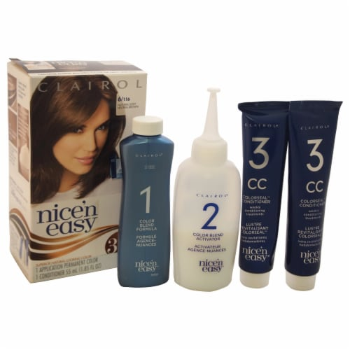 Nice 'n Easy 6/116 Natural Light Neutral Brown Hair Color Perspective: front