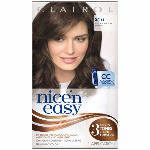Clairol Nice 'n Easy Natural Medium Brown Hair Color Perspective: front
