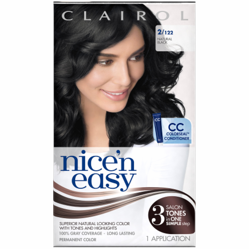 Nice 'n Easy 2/122 Natural Black Hair Color Perspective: front