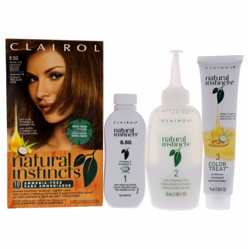 Clairol Natural Instincts Amber Shimmer Hair Color Perspective: front