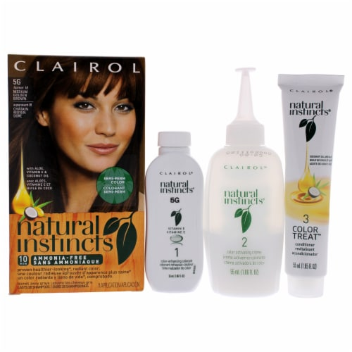 Clairol Natural Instincts Pecan Medium Golden Brown Hair Color Perspective: front