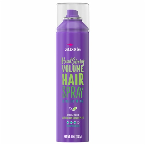 Aussie Headstrong Volume Maximum Hold Hairspray Perspective: front
