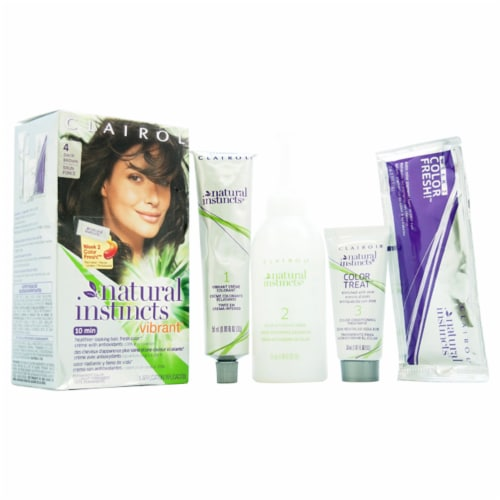 Natural Instincts Haircolor- 4 Nutmeg Dark Brown 004 by Perspective: front