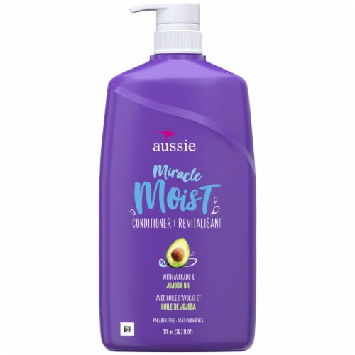 Aussie Miracle Moist with Avocado & Jojoba Oil Paraben Free Conditioner Perspective: front