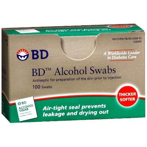 BD Alcohol Swabs Perspective: front