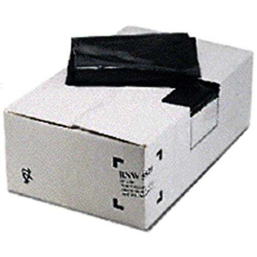 National Plastic NPF-5280 38 x 58 in. 2 Mil Trash Liner, Black - Pack of 100 Perspective: front