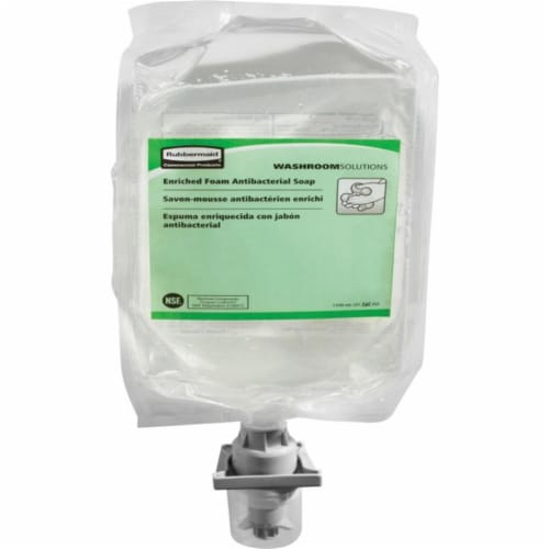 Rubbermaid Commercial Products RCP2018595 E2 Antibacterial Foam Soap Refill, Clear Perspective: front