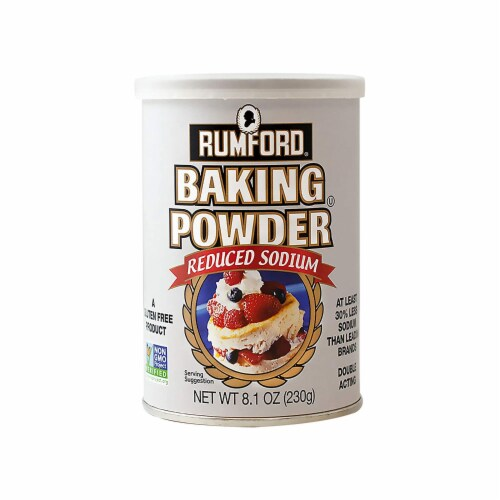 Rumford Reduced Sodium Baking Powder 8.1 Ounce Perspective: front