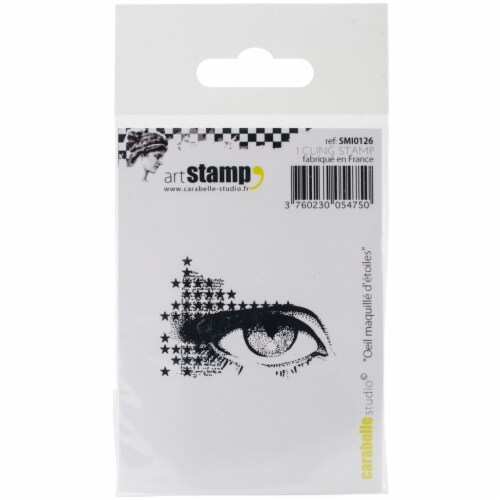 Carabelle Studio Cling Stamp 2.75 X3.75 -Make Up Eye Of Stars Perspective: front