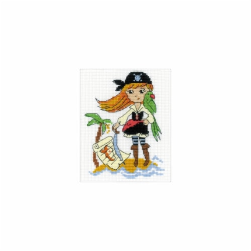 RIOLIS RHB163 Treasure Island Counted Cross Stitch Kit - 5 x 6.25 in. Perspective: front